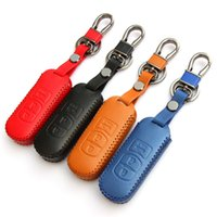 Wholesale Newest Fashion Handwork leather key cover for Mazda Mazda cx cx cx cx RX RX MX axela Buttons smart key