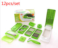 Wholesale 12 Set Vegetable Fruit Multi Grater Peeler Cutter Chopper Slicer Precision Cutting Multi Function Kitchen Cooking Tools