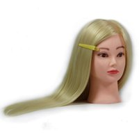 training manikins - hairdressing dolls heads quot quot quot Blonde Real Human Hair Training Head Practice Mannequin Manikin Clamp