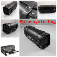 bar motos - More style New Black Prince s Car Motorcycle Saddle Bags Cruiser Tool Bag Luggage Handle Bar Bag Tail Bags Pacote Motos