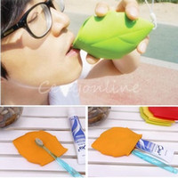 beauty camps - Beauty Portable Soft Silicone Leaf Shape Mug Cup Water Drink Pocket Cup colors Camping Hiking Home Travelling Outdoor