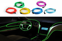 Wholesale Retail Selling LED Strips Gadget color M Flexible Neon Light Glow EL Wire Rope Car Party Decoration Controller Water Resistant