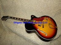 Wholesale New Arrival Sunburst L Jazz Guitar gold hardware hollow body guitars high quality