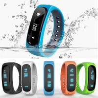 Montre de fitness de santé à puce Prix-bracelet bits ajustement Smartband E02 Santé Fitness Tracker Sport bracelet étanche pour IOS Android Fitbit flex Band intelligente 4.0 Montre Bluetooth