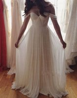 Wholesale Off Shoulder Wedding Dresses Cheap Sweetheart Backless Pleats Piping Criss Cross Low Price Vestio De Noiva Bridal Dress Wedding Gowns