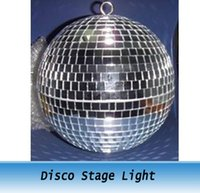 mirror ball disco ball - 1FT inches Reflective Glass Ball Light LED Disco Crystal Ball Mirror Stage Lighting Effect