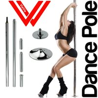Cheap Stripper pole dance 360 Spin Professional Dance Pole Removable training pole X POLE Kit EASY Installation DHL Free Shipping