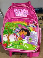 Cheap Shopping Dora Trolley Case 38 X 24 X 12cmNylon Dora The Explorer Backpack Child School Bag S57440