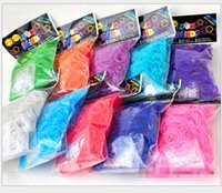 Cheap Best Selling Rainbow Loom Kit DIY Wrist Bands rubber band Rainbow Loom Bracelet for kids (600 pcs bands + 24 pcs C-clips ) 12 Colors