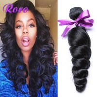 Wholesale Hot Selling Peruvian Human Hair Loose Wave Perivian Virgin Hair Weaves Weft Hair Extension High Quality A Peruvian Hair No Shedding