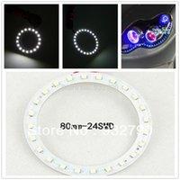 Wholesale 2 x mm Car Auto CCFL Angel Eyes Halo Rings Light Lamp Headlight LED SMD W V K order lt no track