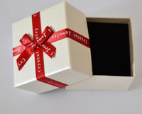 Cheap Luxury Jewelry boxes gift for necklace bracelet earring ring Display Packaging Gift Box 7.4cm*4.6cm