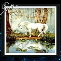 beautiful unicorn pictures - Top Home Beautiful Full Square Drill Rhinestone Pictures Diamond Cross Stitch Painting Mosaic Embroidery Kits Home Decor Unicorn