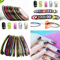 Wholesale 30pcs Mixed Colors Rolls Striping Tape Line Nail Art Tips Decoration Sticker T4T