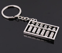 abacus calculators - Keychain Chinese Abacus Calculator Gifts Kids key chain ábaco abaküs abaco Zinc Alloy keychains Key Holder Ring