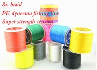 Wholesale HOT x braid PE dyneema fishing line Super strength tension m ft LB LB High quality complete specifications