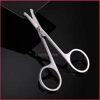 acier inoxydable gros-bord incurvé / droite ronde pointe sourcils pinces à cheveux coupe ciseaux coupe-cils ciseaux Shaping Sourcils