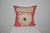 Wholesale Loom Mill Diamond decorative pillow CARTON DOG Red Poly perfect quality and price just buy it