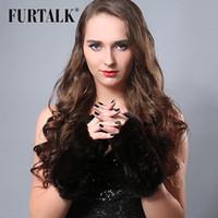best winter gloves for women - new design fur talk cm long fingerless winter real rabbit fur gloves for women best gift