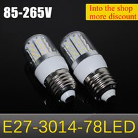 bright white leds - Ultra Bright LED lamps E27 W SMD LEDs LED Corn Bulb High Lumen SMD AC V V Spotlight Ceiling lights