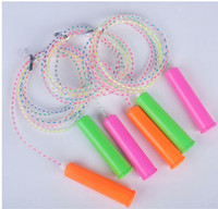 Wholesale Colorful PVC Children Rope Skipping Seven Colour Crystal Rope Sport Good For Kid Kindergarten Good Birthday Gift Child Sport Fitness Product