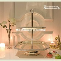 Wholesale Silveriness fashion metal cake stand wedding props home decoration fruit plate mug up pallet