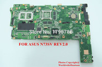 asus mini motherboard - HOT laptop motherboard for ASUS N73SV Mainboard REV2 WITH Intel DDR3 Non integrated fully test and