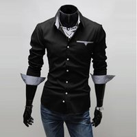 casual shirts for men - Camiseta Masculina Limited Dress Shirts Long Sleeve Camisas New Men s Casual Slim Long Sleeve Shirts Shirt Dress for Men Business