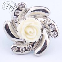 antique button rings - pryme flower shape antique silver color chunk sanp button for leather or metal bracelet and ring in amsterdam