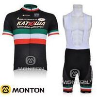 Wholesale HOT blank cycling jerseys outdoor tight clothes Pro Cycling Set KATUSHAC Bike Jerseys and short Bib Pants endura cycling jersey C00S