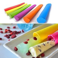 lollies - hot candy Colors Silicone Popsicle Mold Push Up Homemade DIY Delicuous Ice Cream Jelly Lolly Pop Maker HG