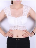 Wholesale Ms fashion new joker lace blouse lace condole belt vest Han edition gauze wrapped chest that wipe a bosom