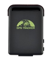 Wholesale 20pcs GSM GPRS GPS Tracking GPS tracker TK102 with car battery cable v DHL