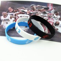 Wholesale Basketball fans Iverson Iverson basketball star products silicone bracelet wristband