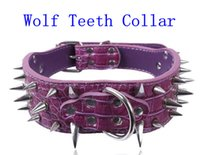 Wholesale Sex Games Neck Collar Chastity Belt Dog Role Play Sex Toy Wolf Teeth Decorated Collar For Lover ZC015
