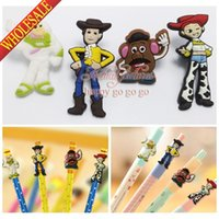 Wholesale 4pcs set Toy Story PVC Pencil Cap for Kids Children Students Cartoon School Stationery Supplies Pens Accessories Boys Gift