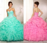 ball gown prom dresses - Gorgeous New Ball Gown Pageant Dress Sweetheart Backless Beads Crystals Ruffles Tiers Floor Length Organza Evening Prom Dresses