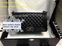 handbags paris - fashion women s high quality Paris brand genuine leather flap le boy handbag messanger shoulder cc chains bag