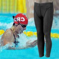 Wholesale 2016 Shark skin Men Swimwear Swimming Pant Sharkskin Waterproof Men s Swim Long Jammers Plus Size swim Racing trousers swimwears