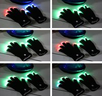 Wholesale DHL pairs Modes color changing flashing led glove for party black white Christmas decoration