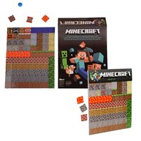 Wholesale 2015 New High quality minecraft fridge stickers refrigerator Magnetic stickers decoration cm MC poster MOQ sets free ship SVS0155