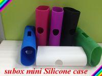 e cig case - Silicone Case Bag E Cig Case Bags Colorful Rubber Sleeve Protective Cover Silica Gel Skin For Kanger Kangertech Subox Mini Box Mod In Stock