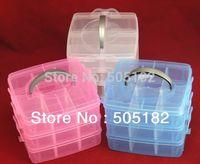 Wholesale Multi Utility caskets jewel Storage Case Box plastic Layer Nail Art Craft Fishing Makeup Tool casket Hard Rack