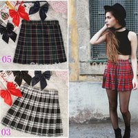 high school uniforms - New HOT SALE Preppy Style Japanese Style School Uniform Plaid High Waist Pleated Tartan Skirts
