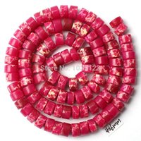 Wholesale Ag AAA x6mm Natural Fuchsia Lace Agate Onyx Rondelle Shape Loose Beads Strand quot Jewellery Making w1501