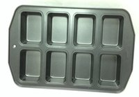 Wholesale 8 count mini loaf pan perfect non stick coating FDA LFGB standard heavy gauge