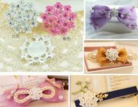 20pcs ronde en alliage strass Perles Fleur Bouton Flatback Pour Scrapbooking bricolage Cheveux clip Accessoires de mode