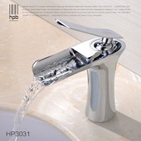 Wholesale Han Pai Brass Waterfall Bathroom Faucet Mixer Basin Faucets Torneira Water Tap HP3031
