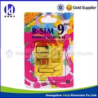 Wholesale R SIM RSIM9 R SIM9 Pro Perfect SIM Card Unlock Official IOS ios RSIM for iphone S G S C GSM Update in June