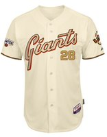 Wholesale 2015 San Francisco Giants Authentic Buster Posey Commemorative Gold Jersey w World Series Champions Patch Customized Jerseys